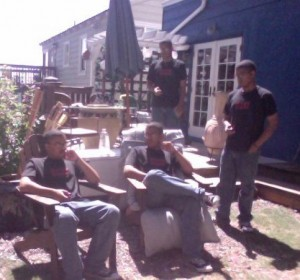 James seems to have multiplied while sitting on his back porch!
